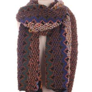 Accessories - Multi-color knit scarf